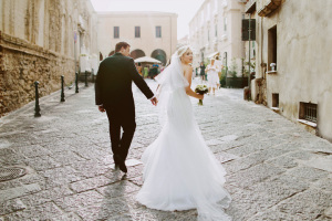 Black tie wedding in Italy