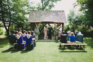 Cripps barn outdoor ceremony