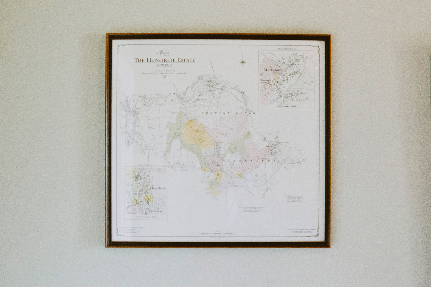 old map on wall
