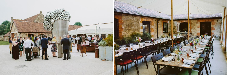 Wedding guests at Hauser & Wirth Somerset