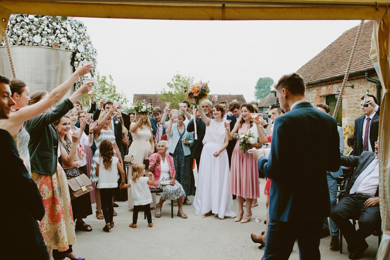 Speeches at Hauser & Wirth Somerset wedding