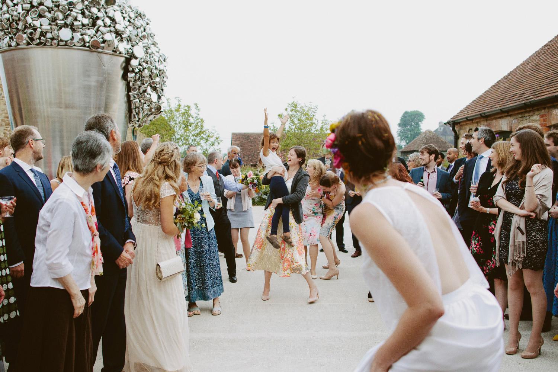 Guests at Hauser & Wirth Somerset wedding
