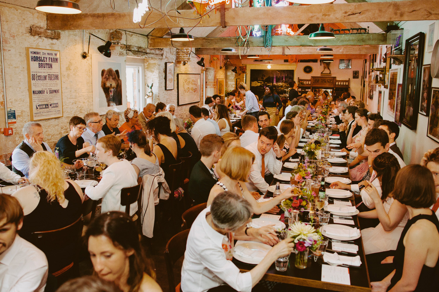Wedding dinner at Roth Bar and Grill at Hauser & Wirth Somerset