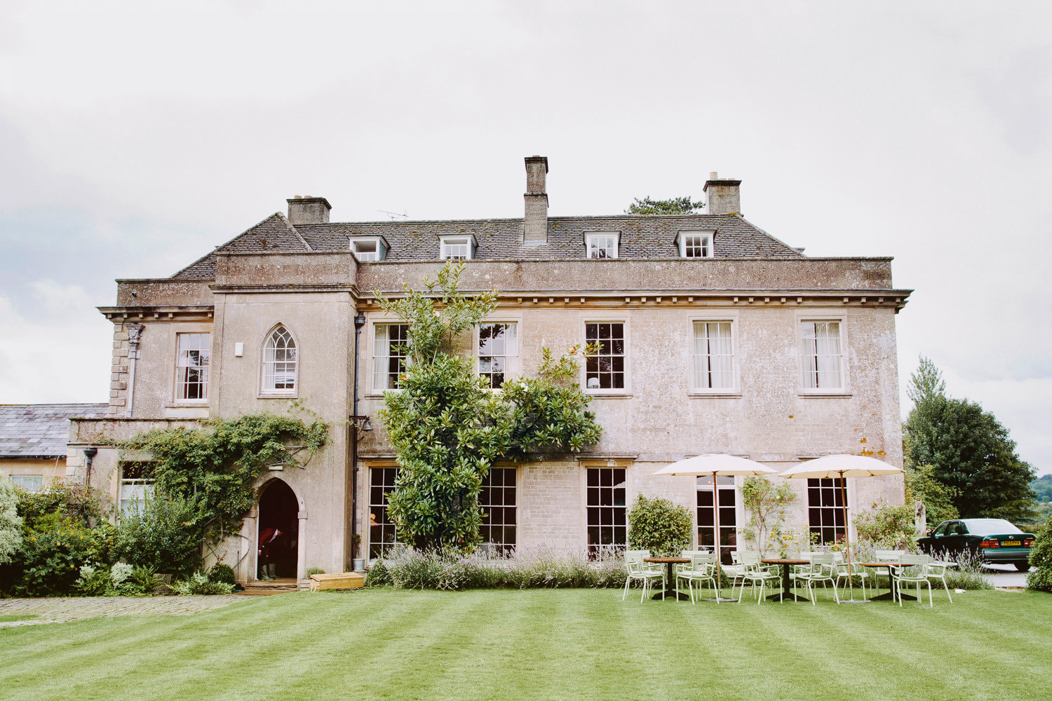 manor house at a Somerset wedding