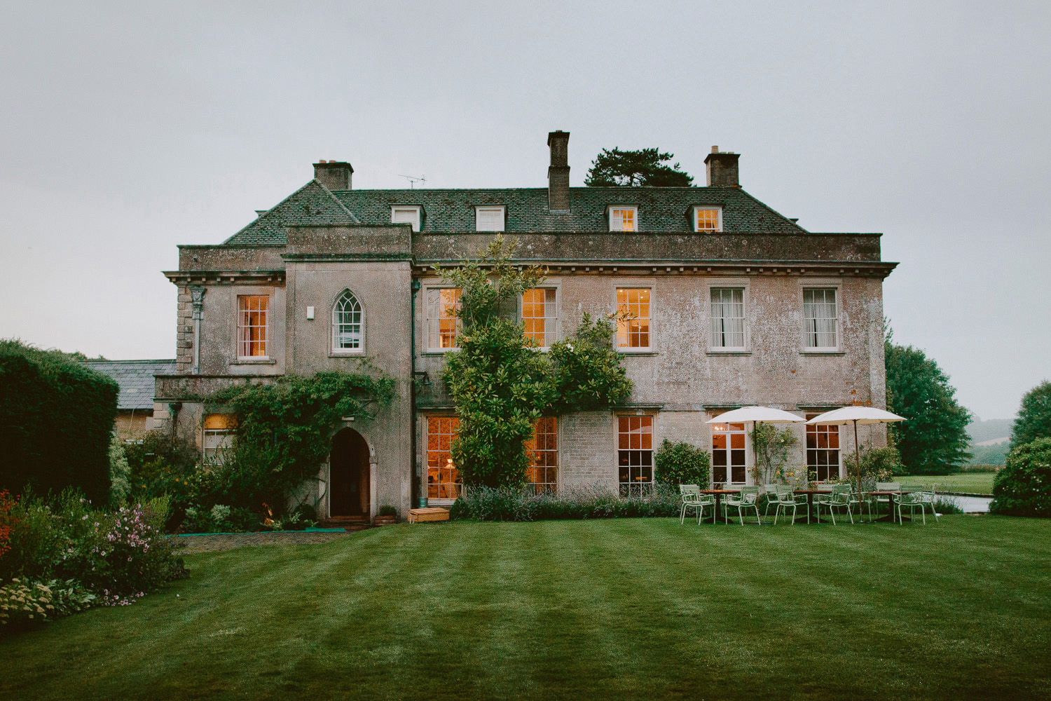 Georgian manor house wedding venue in Somerset