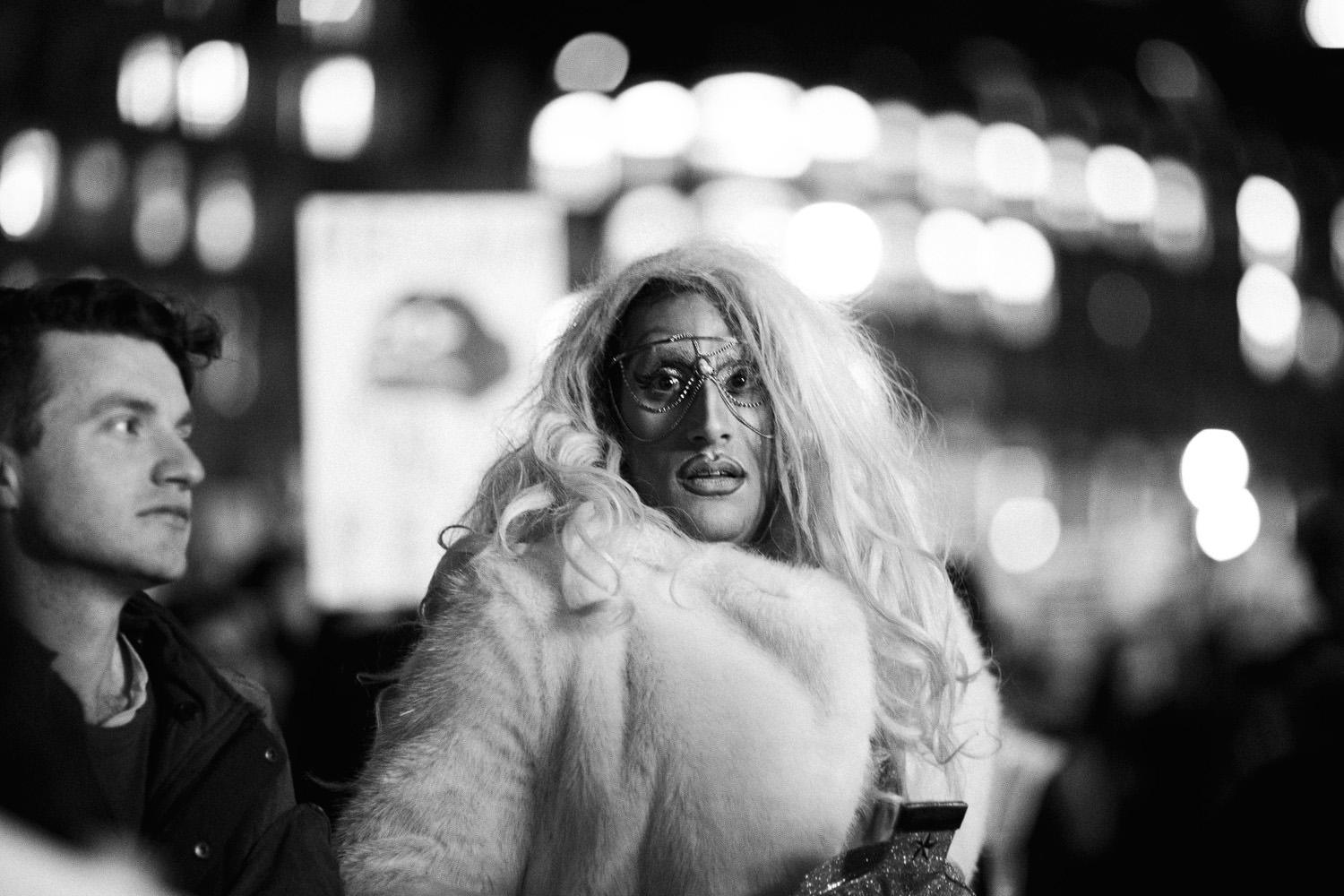 transvestite at London march against Trump state visit