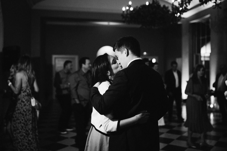 Couple kiss on the dancefloor