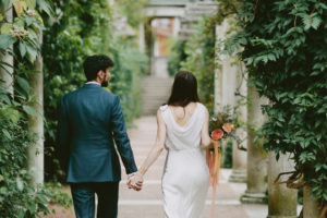 Hampstead Heath pergola wedding