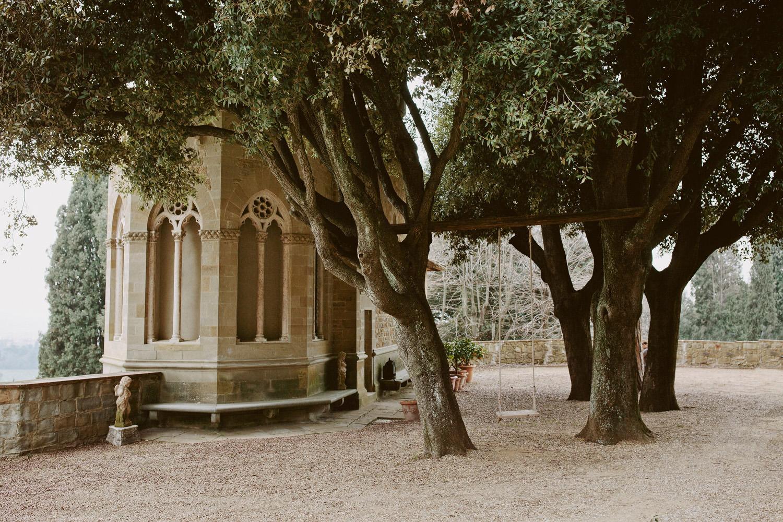Chapel overlooking Florence at Villa Le Fontanelle