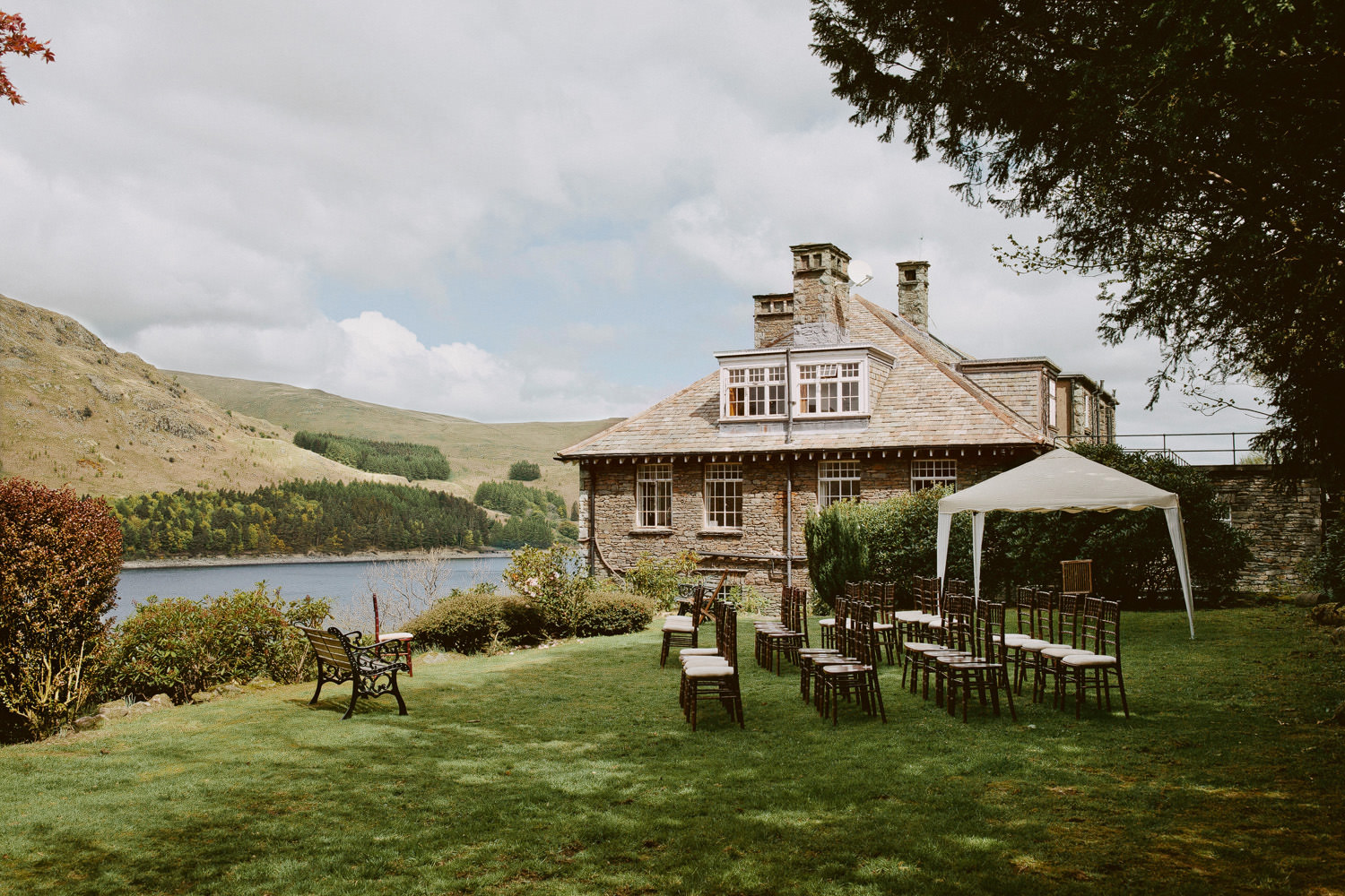 Haweswater Hotel and surrounding hills