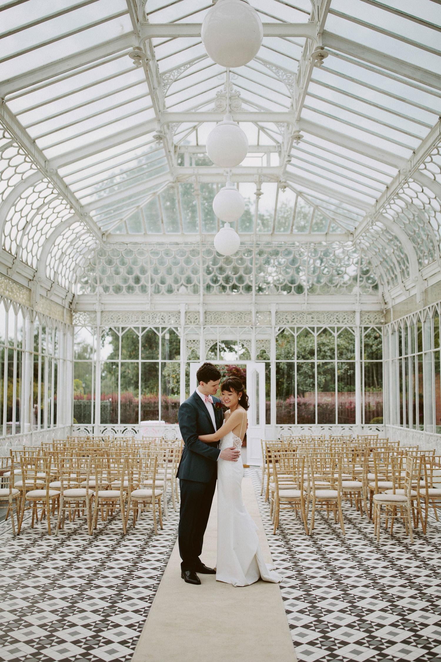 Wedding couple at Horniman museum London