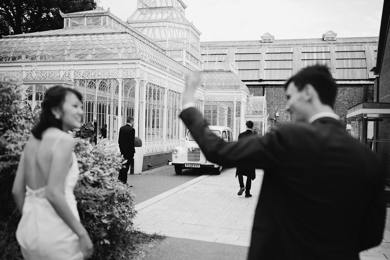 Wedding at Horniman museum Victorian glasshouse
