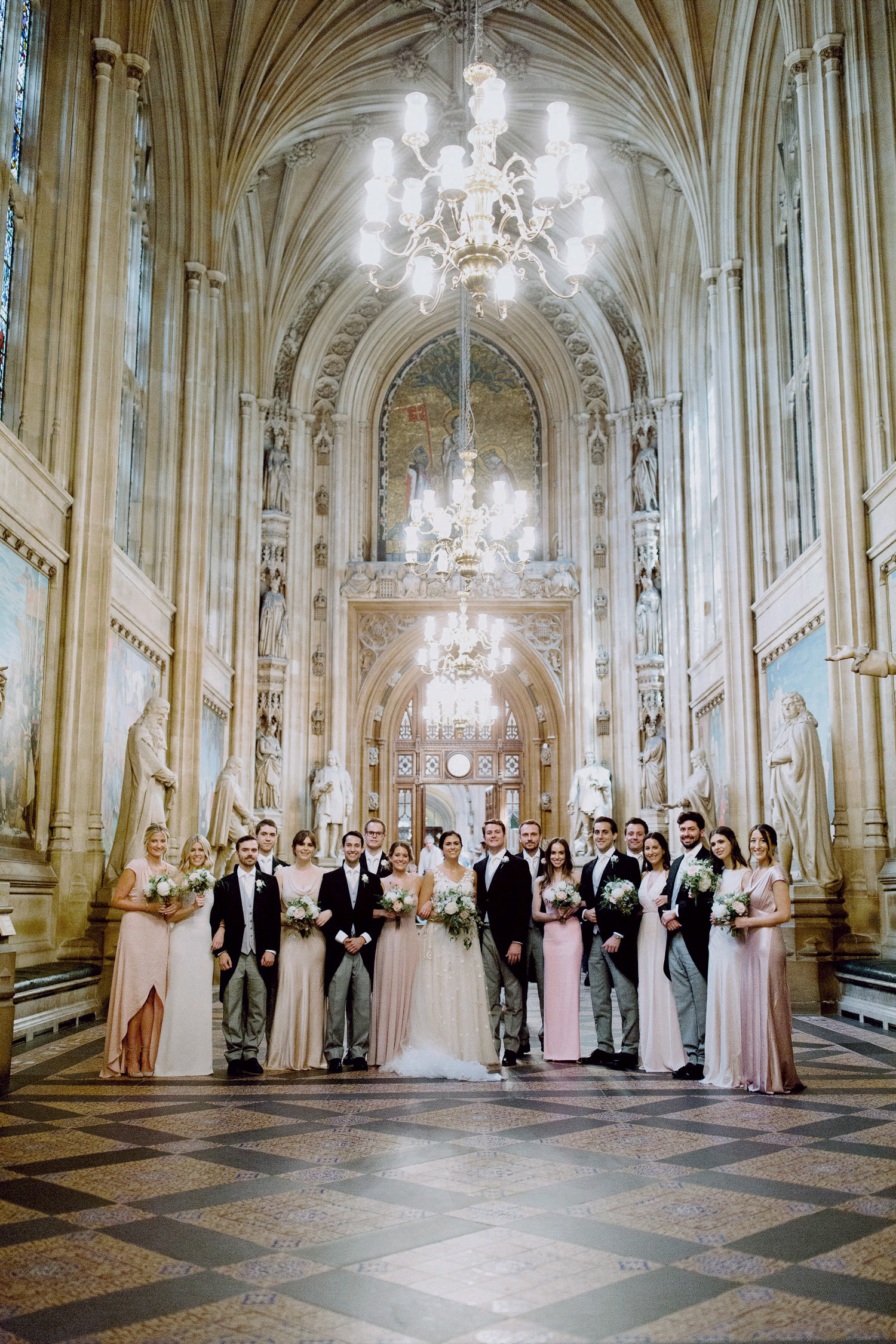 Ushers and bridesmaids in the house of lords