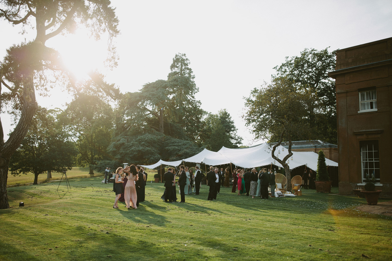 Beautiful outdoor reception at Suffolk wedding venue