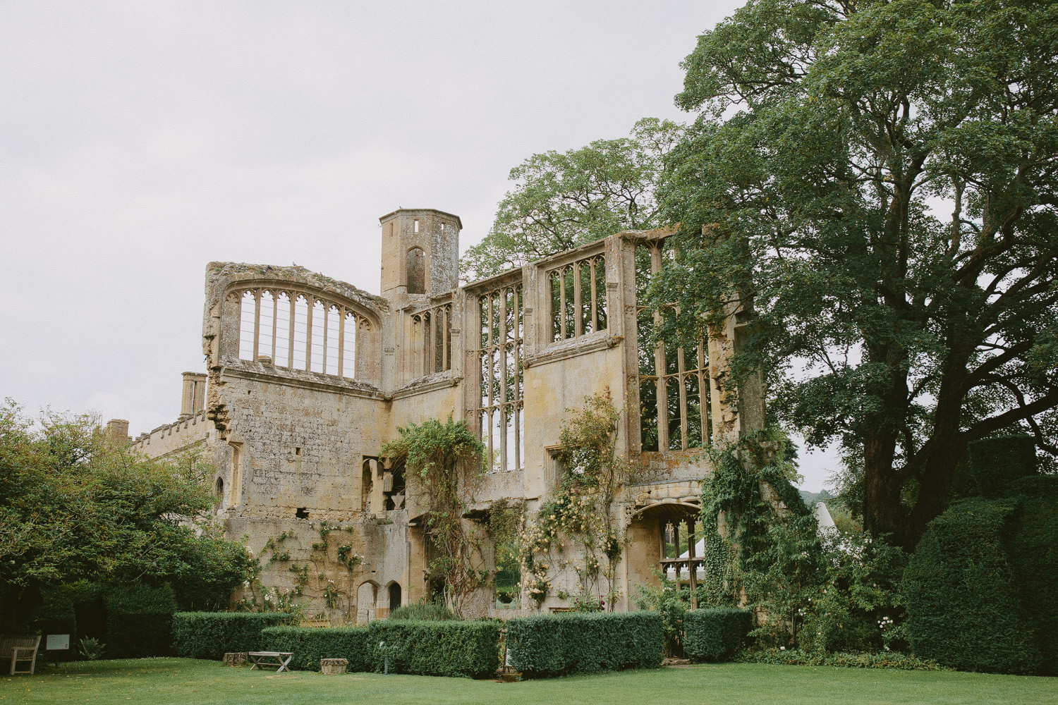 the ruins at Sudeley Castle in Winchcombe