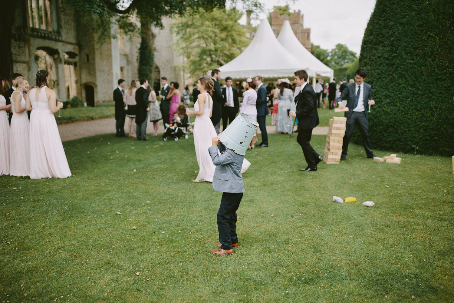 wedding guests at a Sudeley Castle wedding