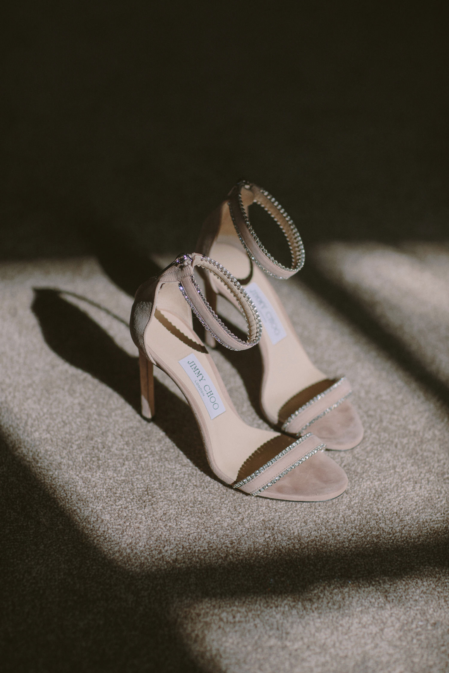 beige jimmy choo high heeled shoes