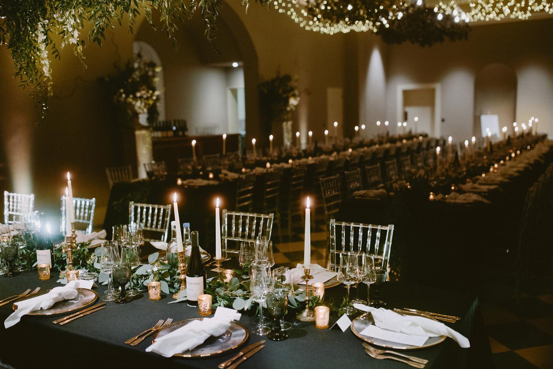table setting at Sibton park wedding