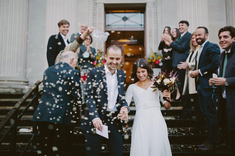 wedding at Marylebone townhall